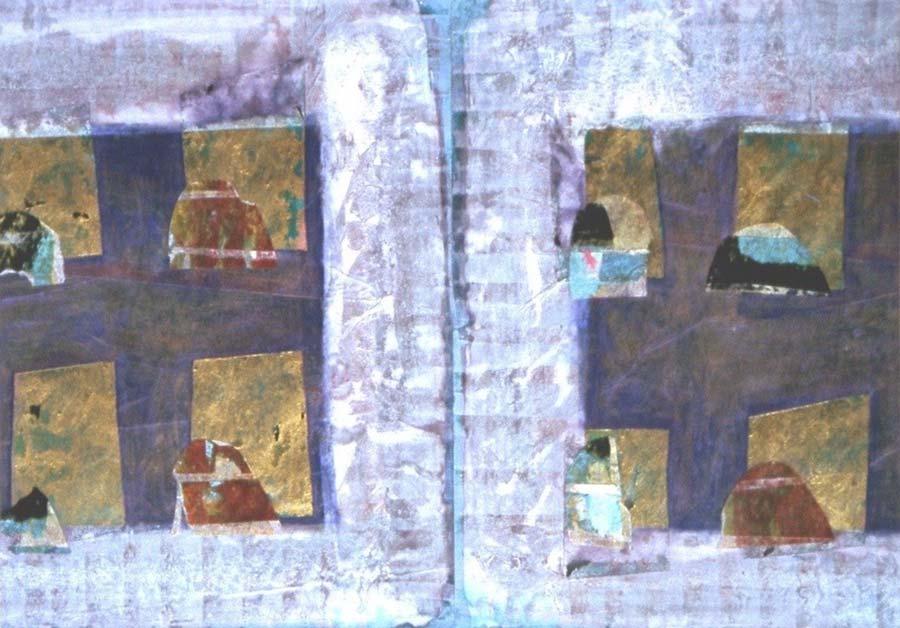 Golden Schemes I 25x28cm
