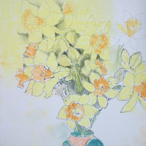 Daffs in mixed media ii