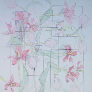 Flowers & squares iii